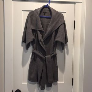 Ann Taylor belted wrap coat